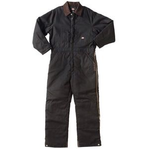 Dickies Black Insulated Coveralls Size Large